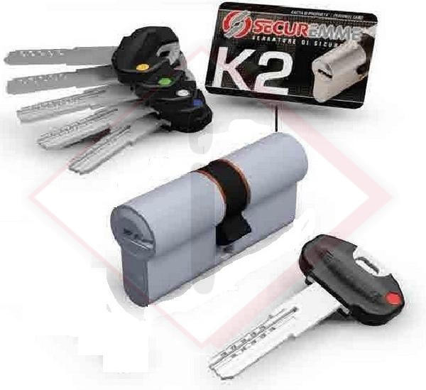 CILINDRI SECUREMME K2 CH-CH.CR-S.MM40-70 -- Codice: 25554 112