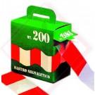 NASTRO SEGNALETICO B.CO-ROSSO 200mt -- Codice: 46860 200
