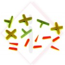 DISTANZIATORI PLAST. A ''T'' MM.1 -- Codice: 48700 001