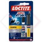 ADESIVO SUPER ATTAK PLASTICA 2GR + 4ML -- Codice: 67606 100