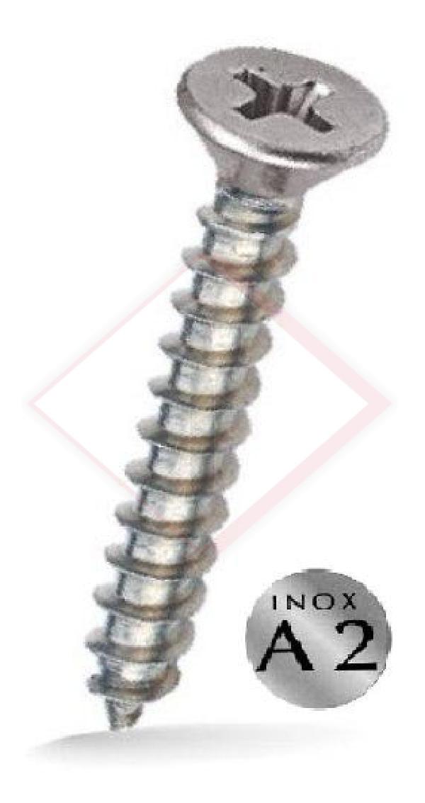 VITI AUTOFILETT. TSP INOX A2 MM 4.2X25 -- Codice: 06150 425