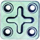 PIASTRINE GIUNZIONE 4 FORI 6X4 -- Codice: 16500 001