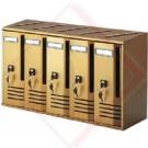 CASSETTE POSTALI ALUBOX CUBO 6 BRON -- Codice: 24220 006