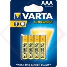 BATTERIE VARTA ZC SUPERLIFE AAA Pz.4 -- Codice: 74000 001